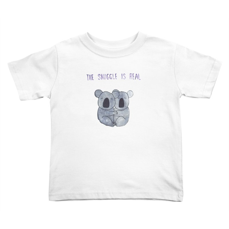 The Snuggle is Real Kids Toddler T-Shirt by Hello Happiness!