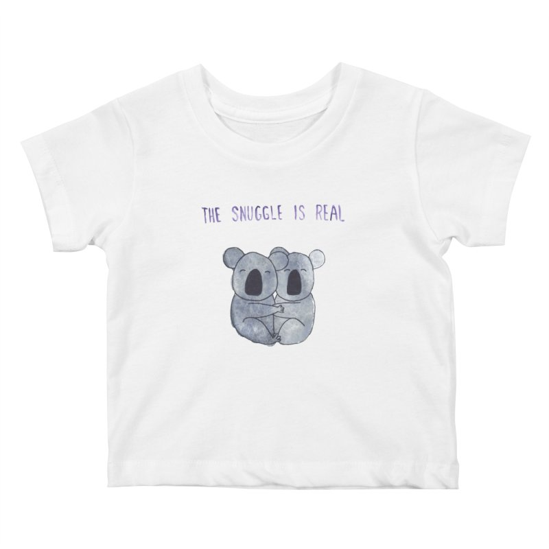 The Snuggle is Real Kids Baby T-Shirt by Hello Happiness!