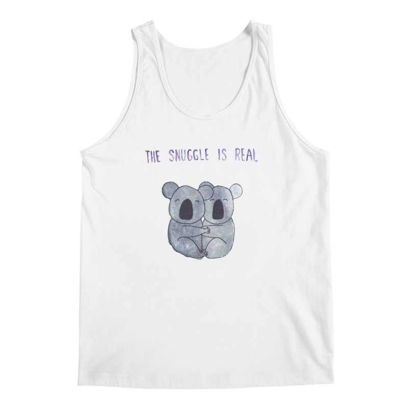 The Snuggle is Real Men's Regular Tank by Hello Happiness!