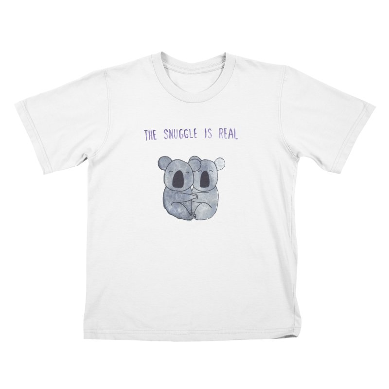 The Snuggle is Real Kids T-Shirt by Hello Happiness!
