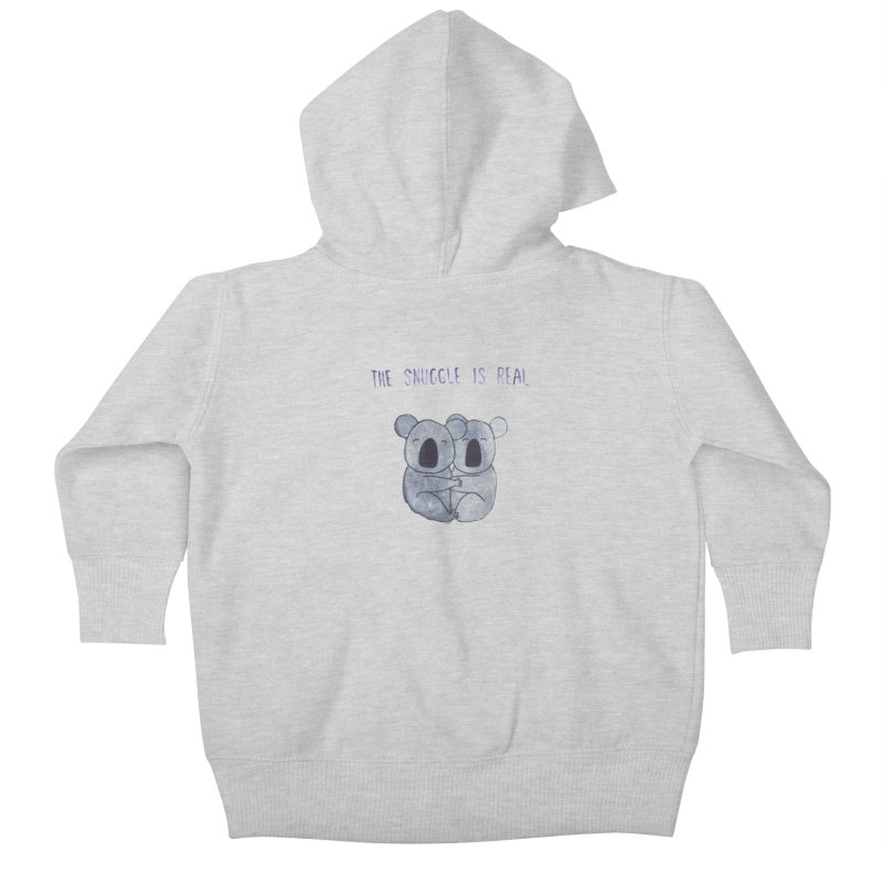 The Snuggle is Real Kids Baby Zip-Up Hoody by Hello Happiness!
