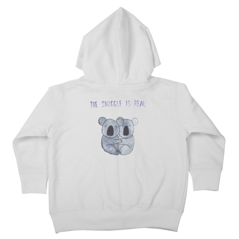 The Snuggle is Real Kids Toddler Zip-Up Hoody by Hello Happiness!