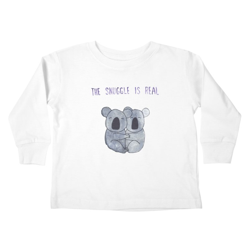 The Snuggle is Real Kids Toddler Longsleeve T-Shirt by Hello Happiness!
