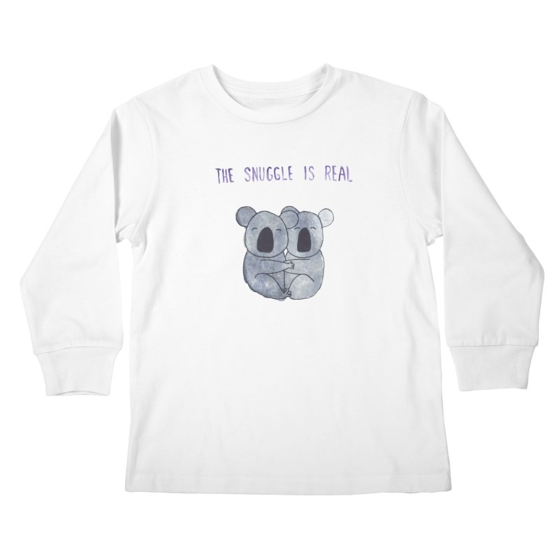 The Snuggle is Real Kids Longsleeve T-Shirt by Hello Happiness!
