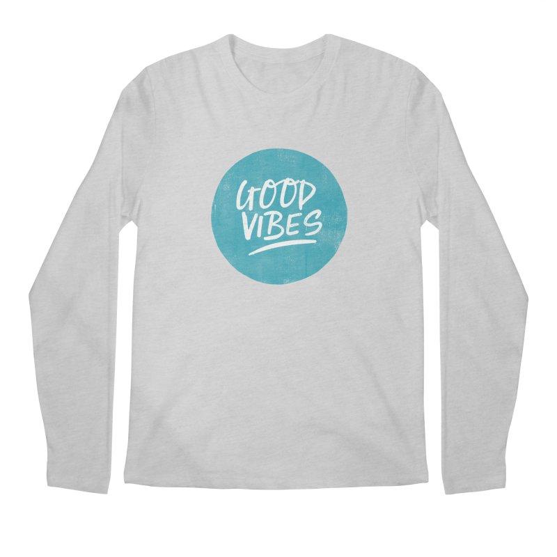 Good Vibes Men's Regular Longsleeve T-Shirt by Hello Happiness!