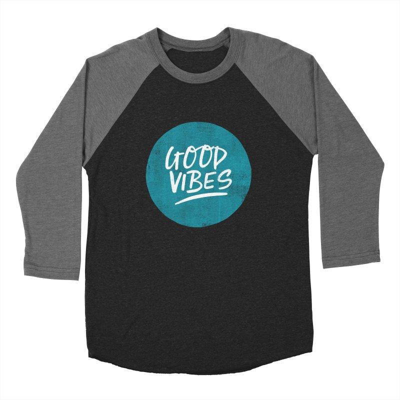 Good Vibes Women's Baseball Triblend Longsleeve T-Shirt by Hello Happiness!