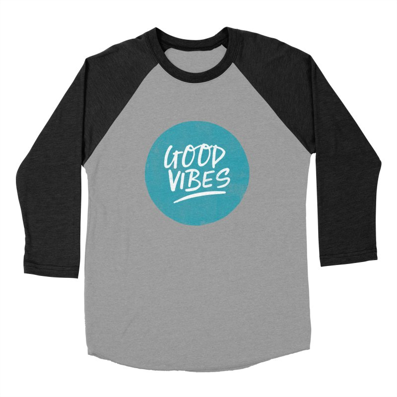 Good Vibes Women's Baseball Triblend Longsleeve T-Shirt by Hello Happiness!