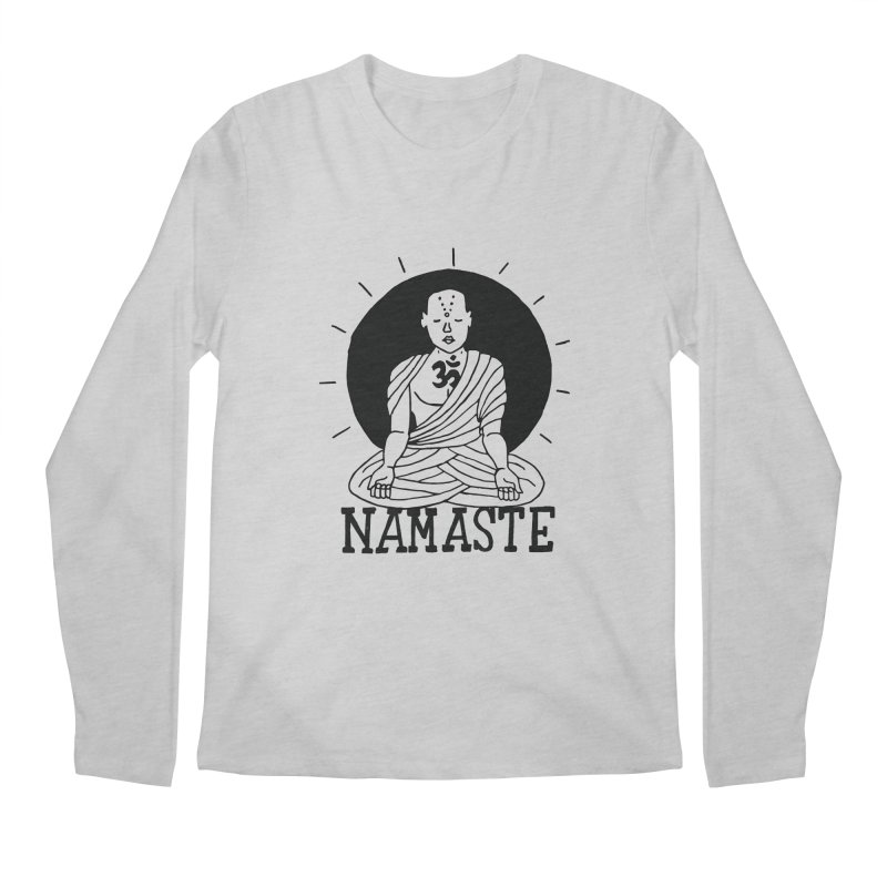 Namaste Men's Regular Longsleeve T-Shirt by Hello Happiness!