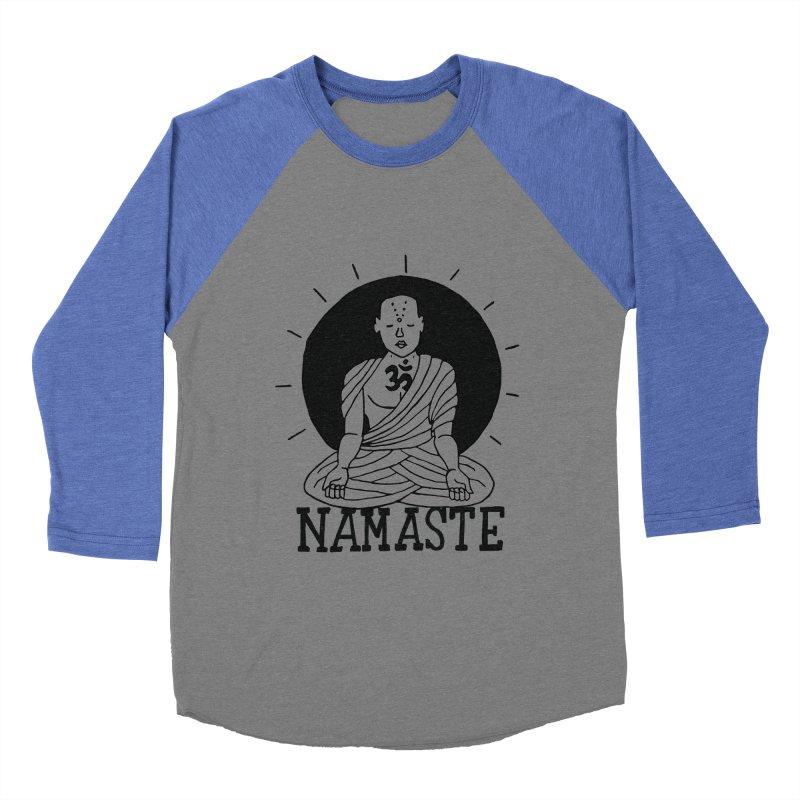 Namaste Women's Baseball Triblend Longsleeve T-Shirt by Hello Happiness!