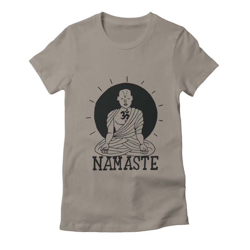 Namaste Women's Fitted T-Shirt by Hello Happiness!
