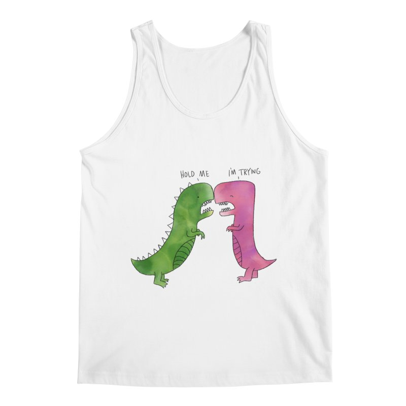 Hold Me Dinosaurs Men's Regular Tank by Hello Happiness!