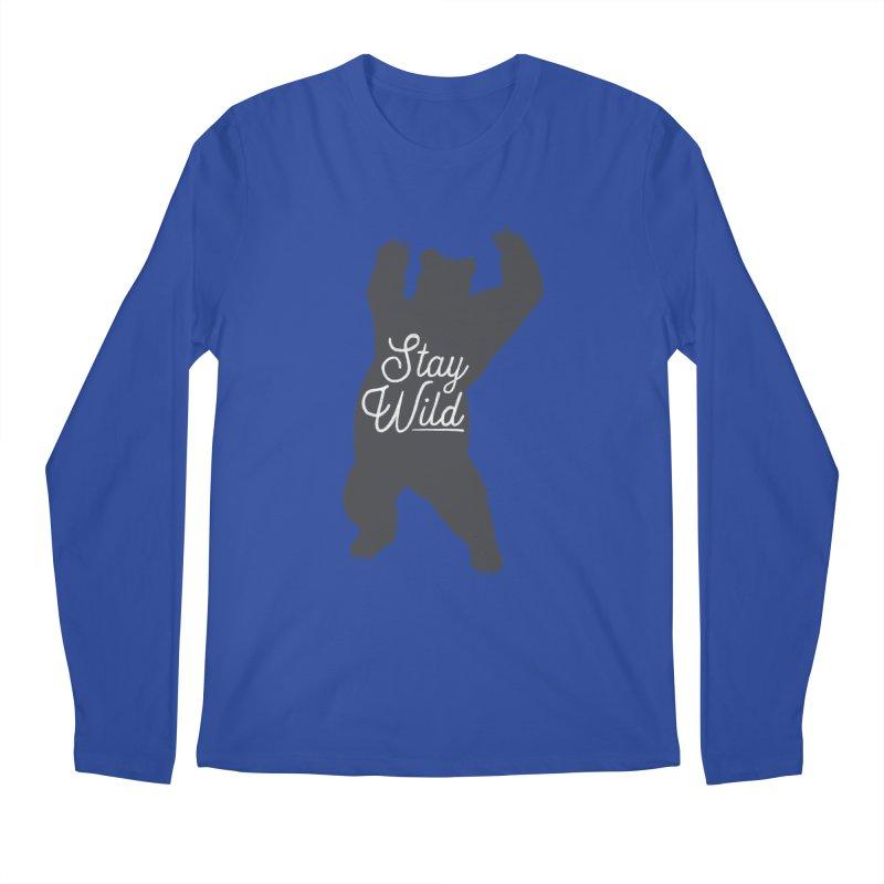 Stay Wild Men's Regular Longsleeve T-Shirt by Hello Happiness!