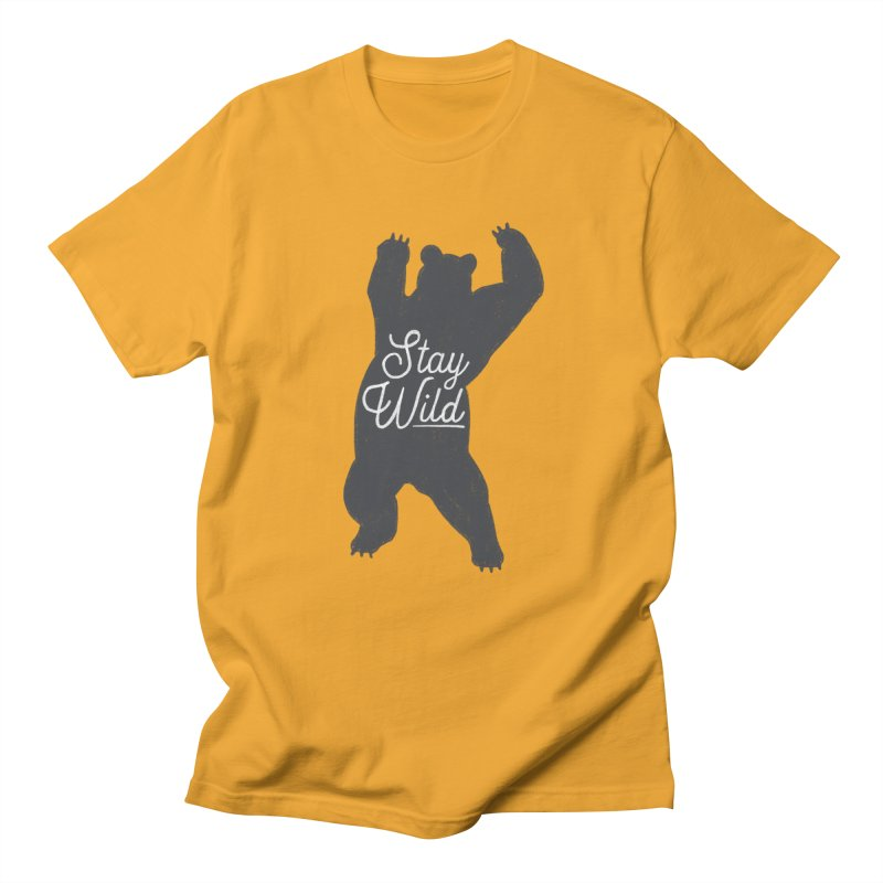 Stay Wild Men's Regular T-Shirt by Hello Happiness!
