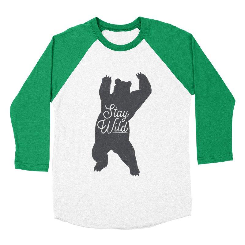 Stay Wild Women's Baseball Triblend Longsleeve T-Shirt by Hello Happiness!