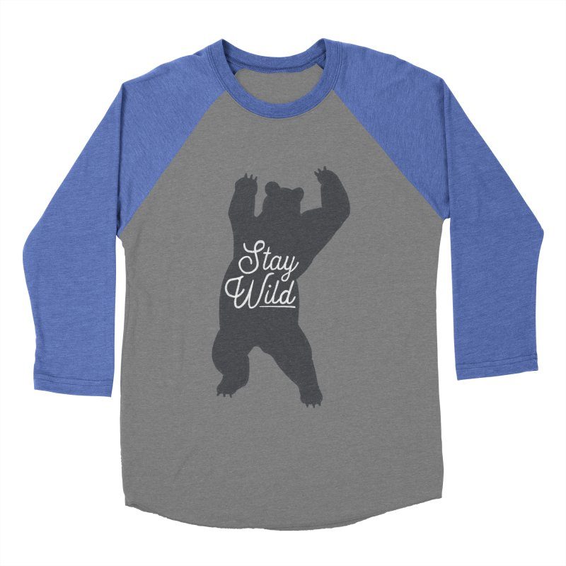 Stay Wild Women's Baseball Triblend Longsleeve T-Shirt by Hello Happiness!
