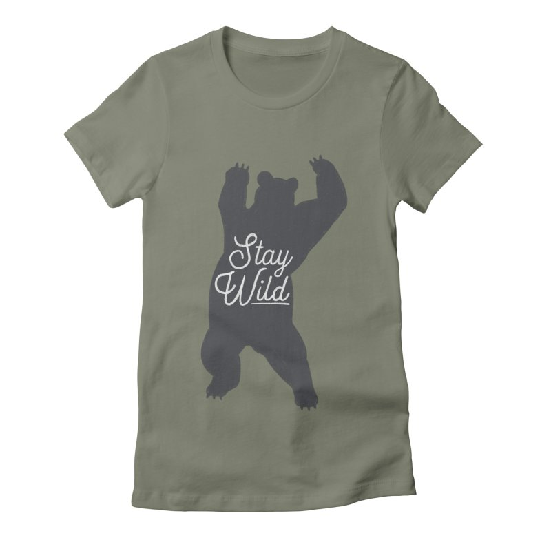 Stay Wild Women's Fitted T-Shirt by Hello Happiness!