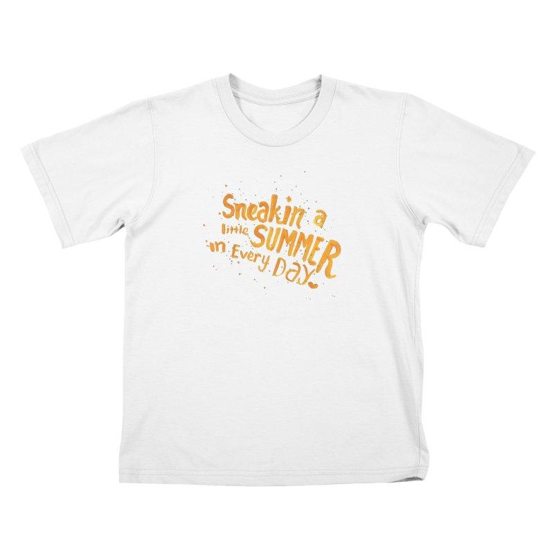 Sneakin' a little summer Kids T-Shirt by