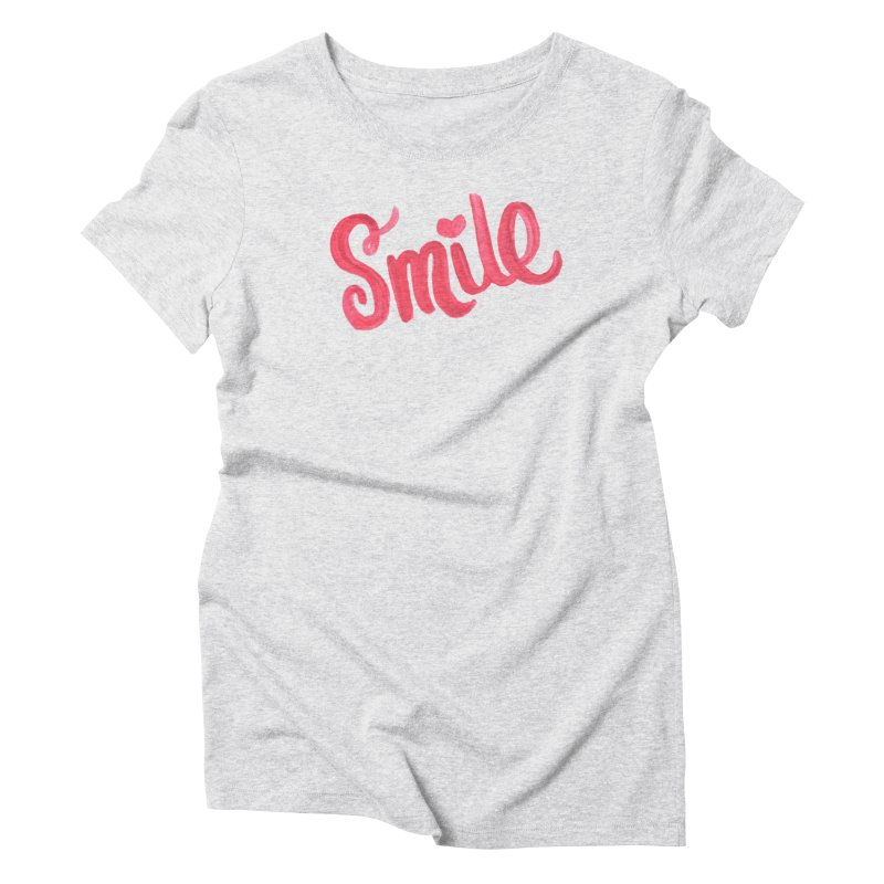 Smile in Women's Triblend T-Shirt Heather White by MIREYA