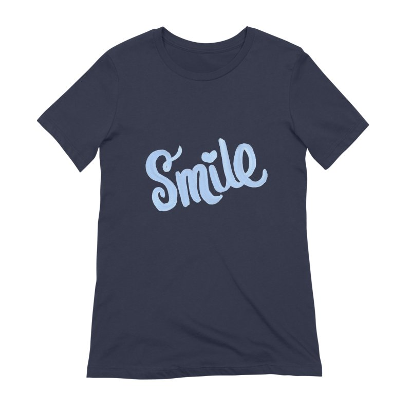 blue smile Women's Extra Soft T-Shirt by MIREYA