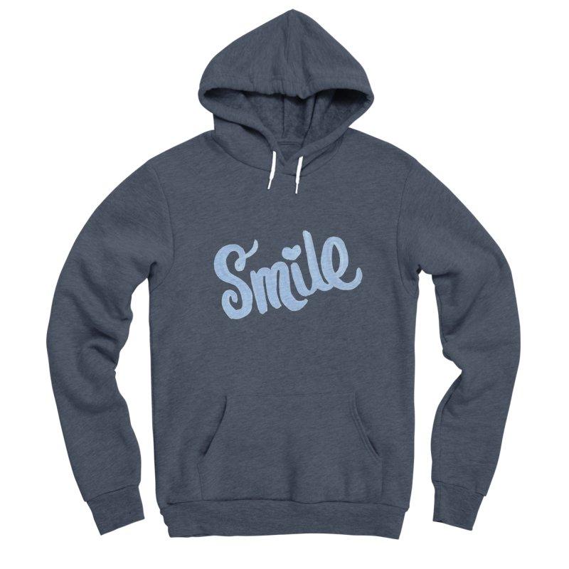 blue smile Men's Sponge Fleece Pullover Hoody by MIREYA