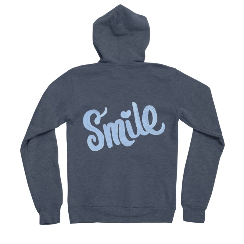 blue smile Men's Sponge Fleece Zip-Up Hoody by MIREYA