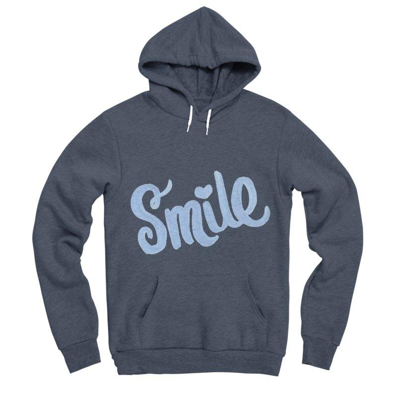 blue smile Men's Sponge Fleece Pullover Hoody by MIREYA