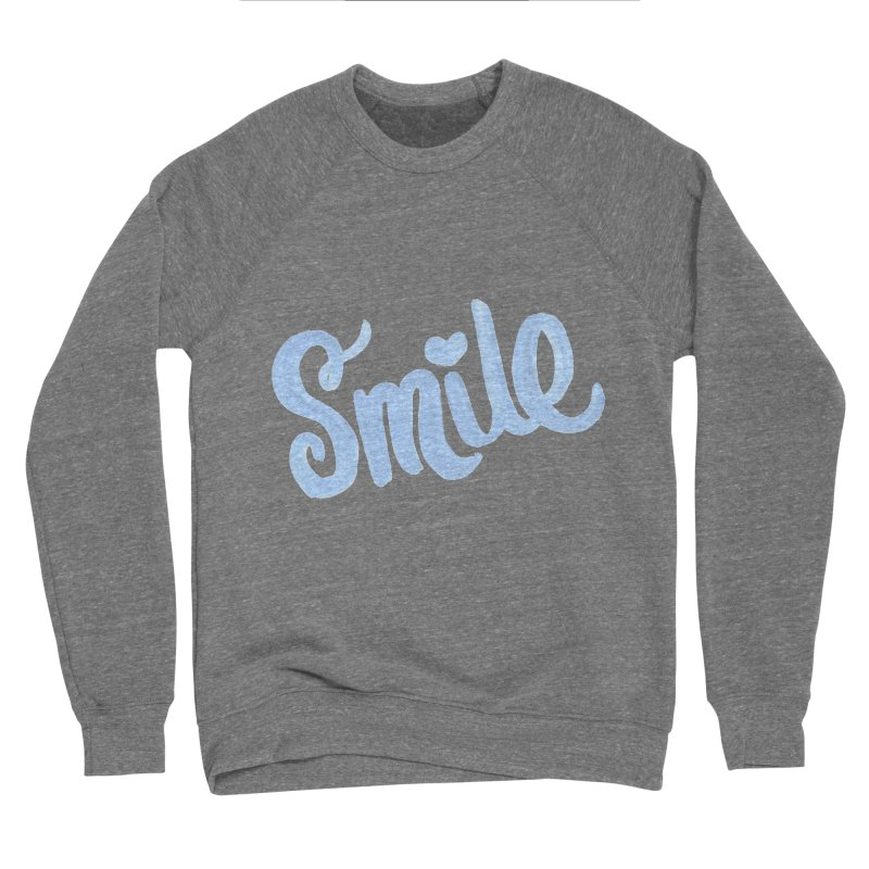 blue smile Men's Sponge Fleece Sweatshirt by MIREYA