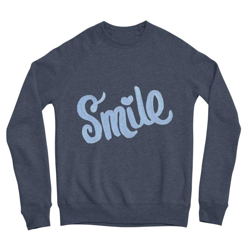 blue smile Men's Sponge Fleece Sweatshirt by MIREYA