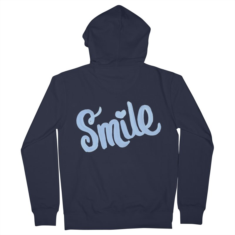 blue smile in Women's French Terry Zip-Up Hoody Navy by MIREYA