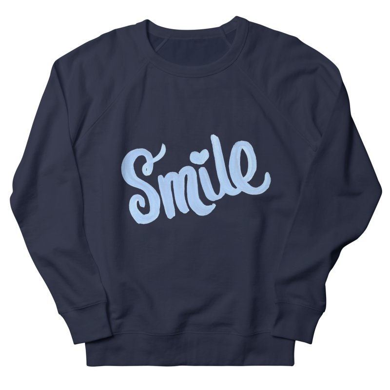 blue smile in Women's French Terry Sweatshirt Navy by MIREYA