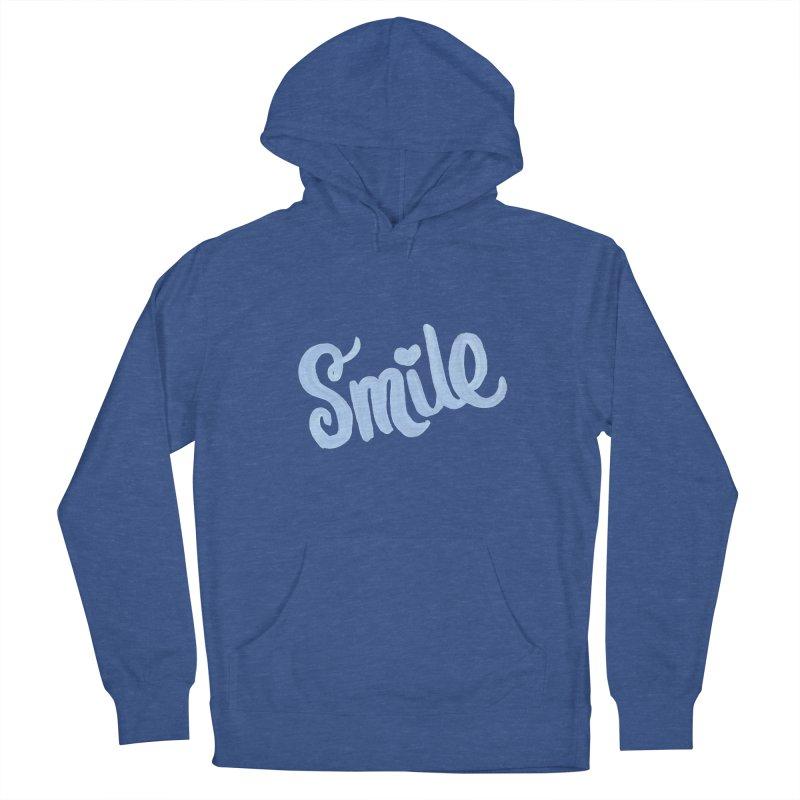 blue smile Women's Pullover Hoody by MIREYA