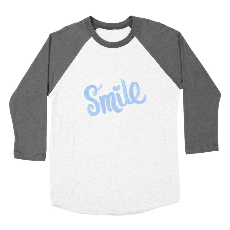 blue smile Men's Baseball Triblend Longsleeve T-Shirt by MIREYA