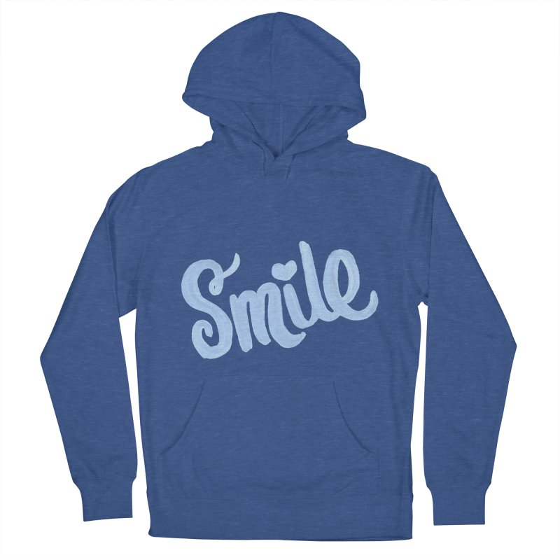 blue smile Women's French Terry Pullover Hoody by MIREYA