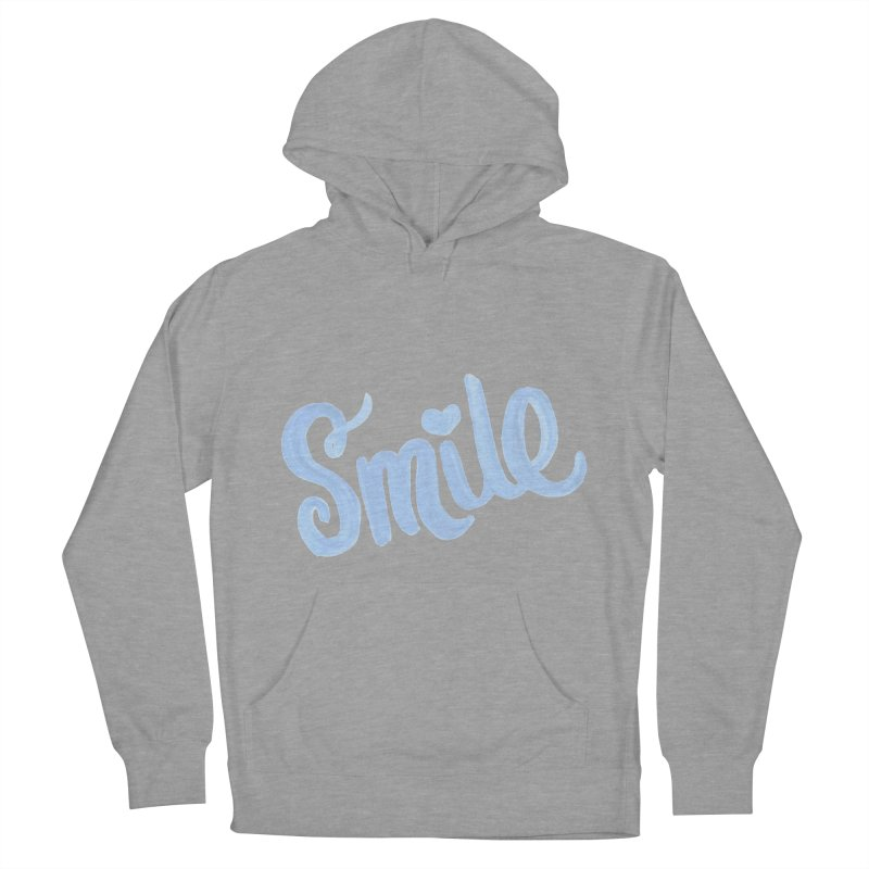 blue smile Men's French Terry Pullover Hoody by MIREYA