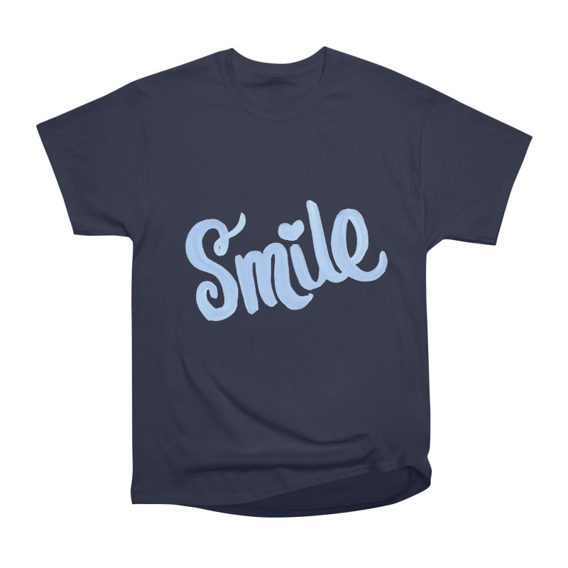 blue smile Men's Heavyweight T-Shirt by MIREYA