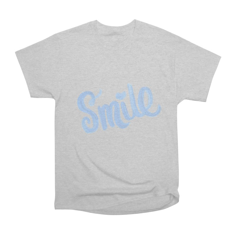 blue smile Men's Heavyweight T-Shirt by MIREYA