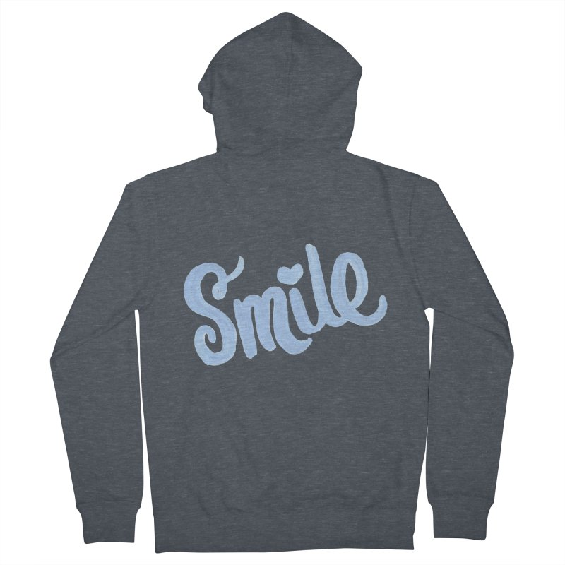 blue smile Men's French Terry Zip-Up Hoody by MIREYA