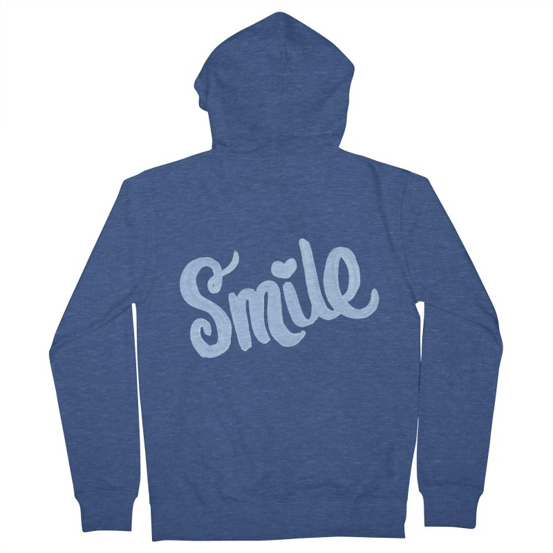 blue smile Men's Zip-Up Hoody by MIREYA