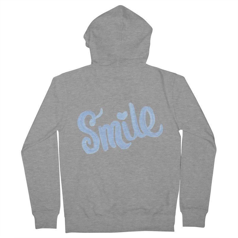 blue smile Men's French Terry Zip-Up Hoody by MIREYA