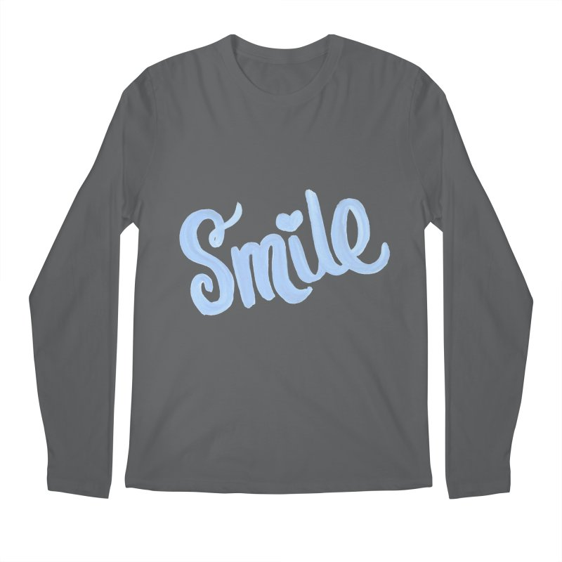 blue smile Men's Regular Longsleeve T-Shirt by MIREYA