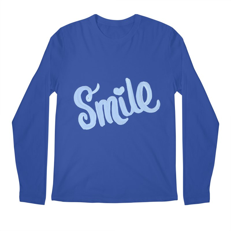 blue smile Men's Regular Longsleeve T-Shirt by MIREYA