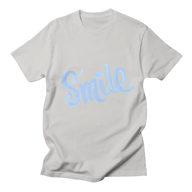 blue smile Men's Regular T-Shirt by MIREYA