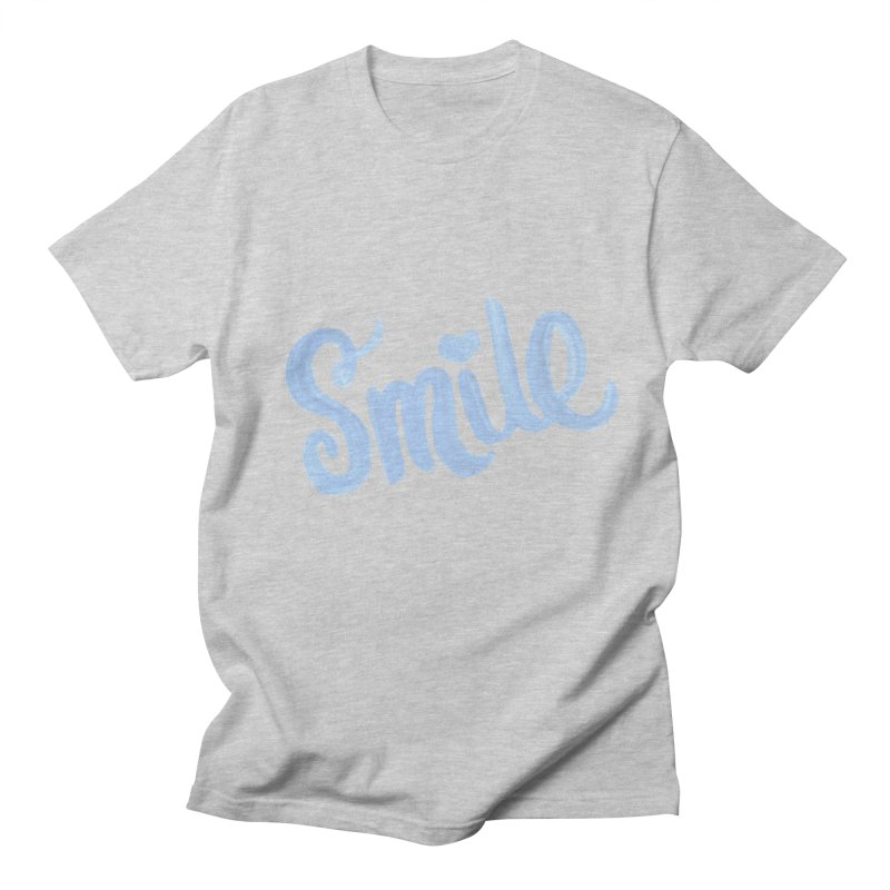 blue smile Men's T-Shirt by MIREYA