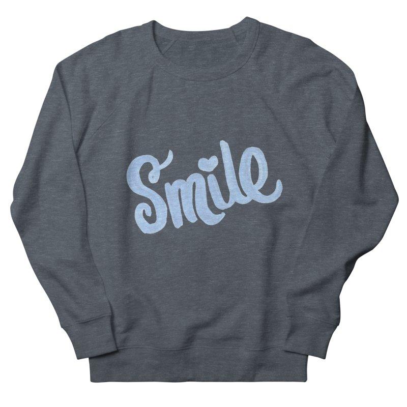 blue smile Women's French Terry Sweatshirt by MIREYA