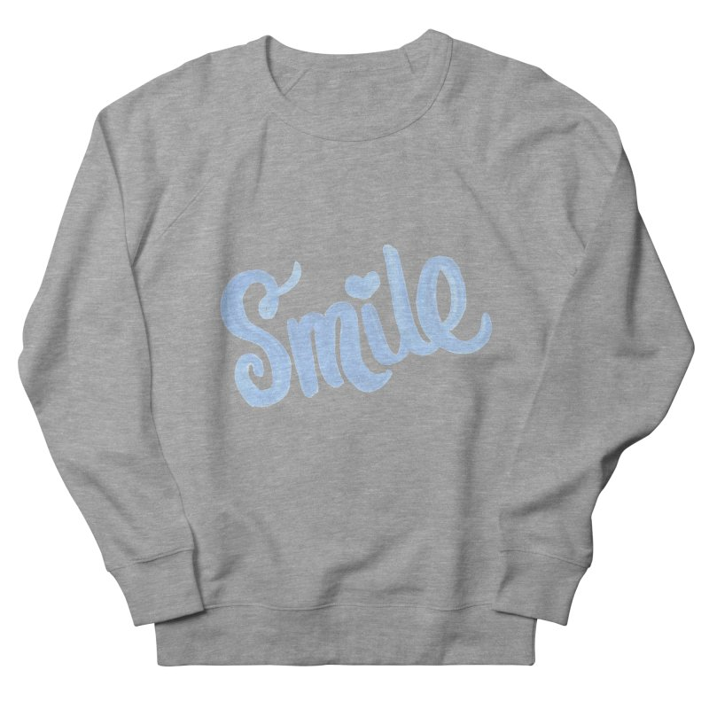 blue smile Men's French Terry Sweatshirt by MIREYA