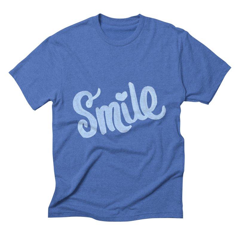 blue smile Men's T-Shirt by MIREYA