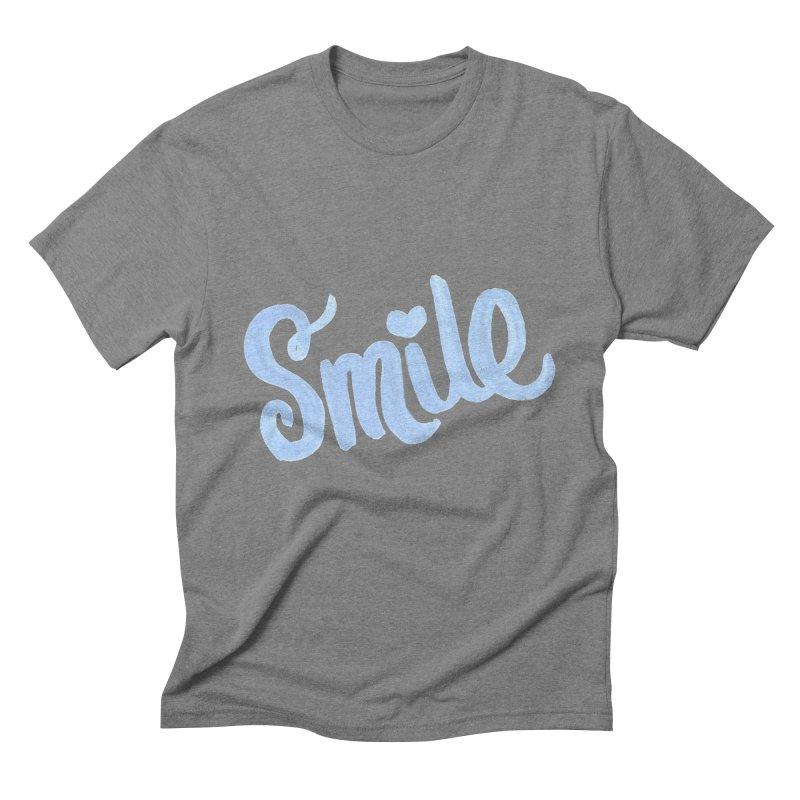 blue smile Men's Triblend T-Shirt by MIREYA