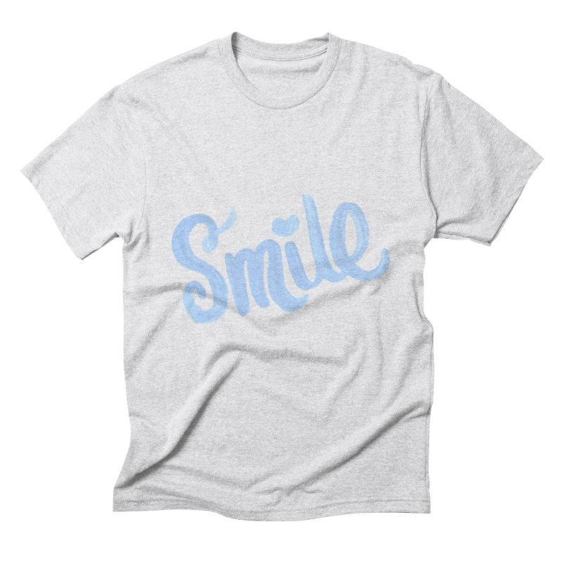 blue smile Men's Triblend T-Shirt by MIREYA