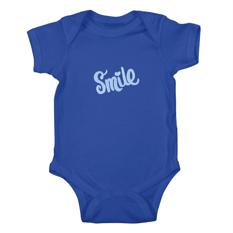 blue smile Kids Baby Bodysuit by MIREYA
