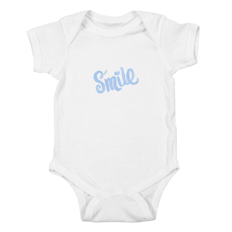 blue smile Kids Baby Bodysuit by MIREYA